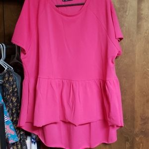 New Hot Pink High Low Top